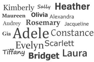 Angielskie imiona żeńskie