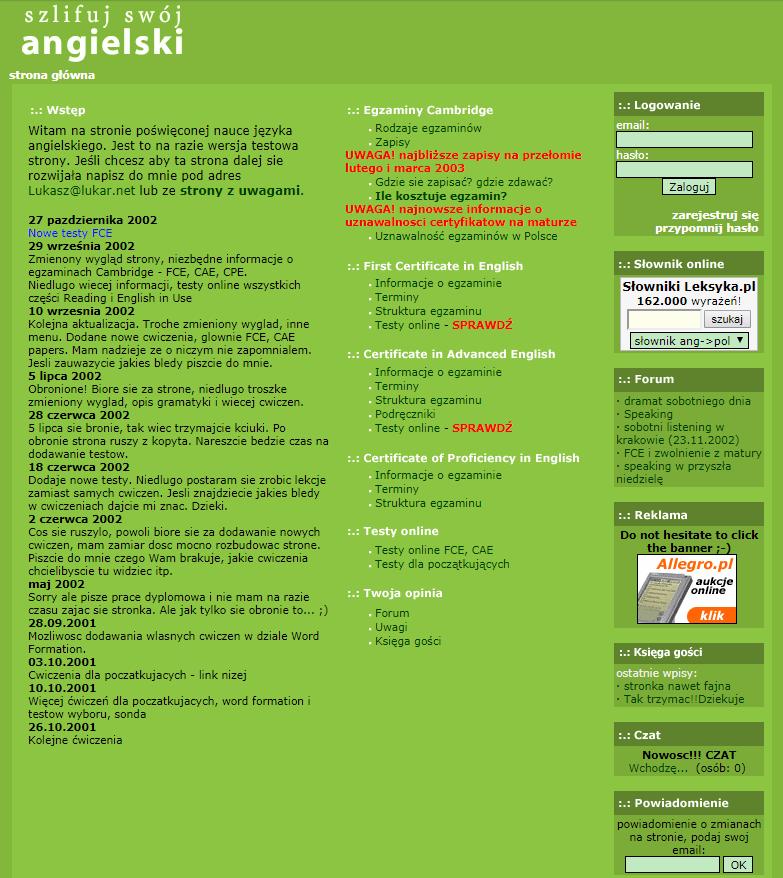Szlifuj swój angielski 2003